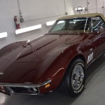 Classic Corvette Stingray in burgundy for wash and paint protection