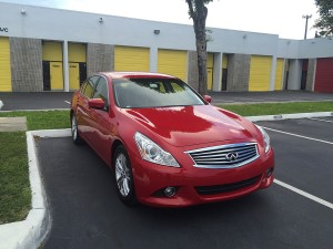 Infiniti G37 Red Maintenance Wash