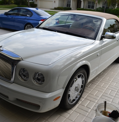 White Bentley Azure