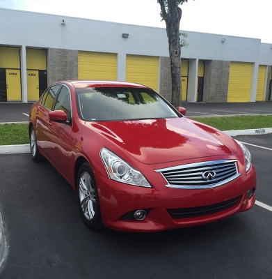 Infiniti G37 Red Maintenance Cleaning